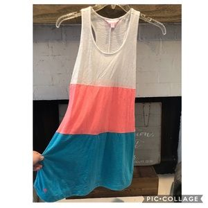 Lily Pulitzer beach coverup dress racer back xS